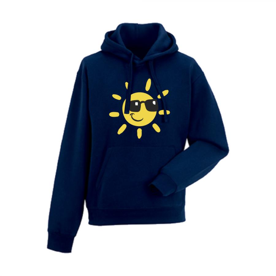Ανδρικό φούτερ - σκούρο μπλε χρώμα Sun with sunglasses
