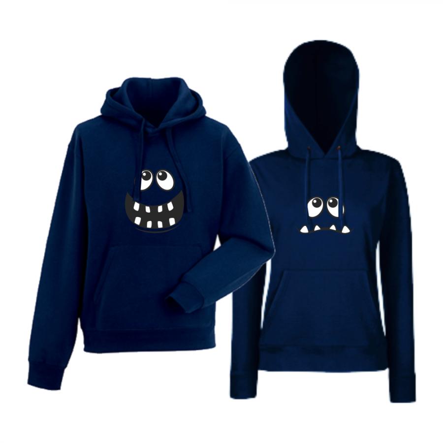 Σετ φούτερ - σκούρο μπλε χρώμα Big Smile
