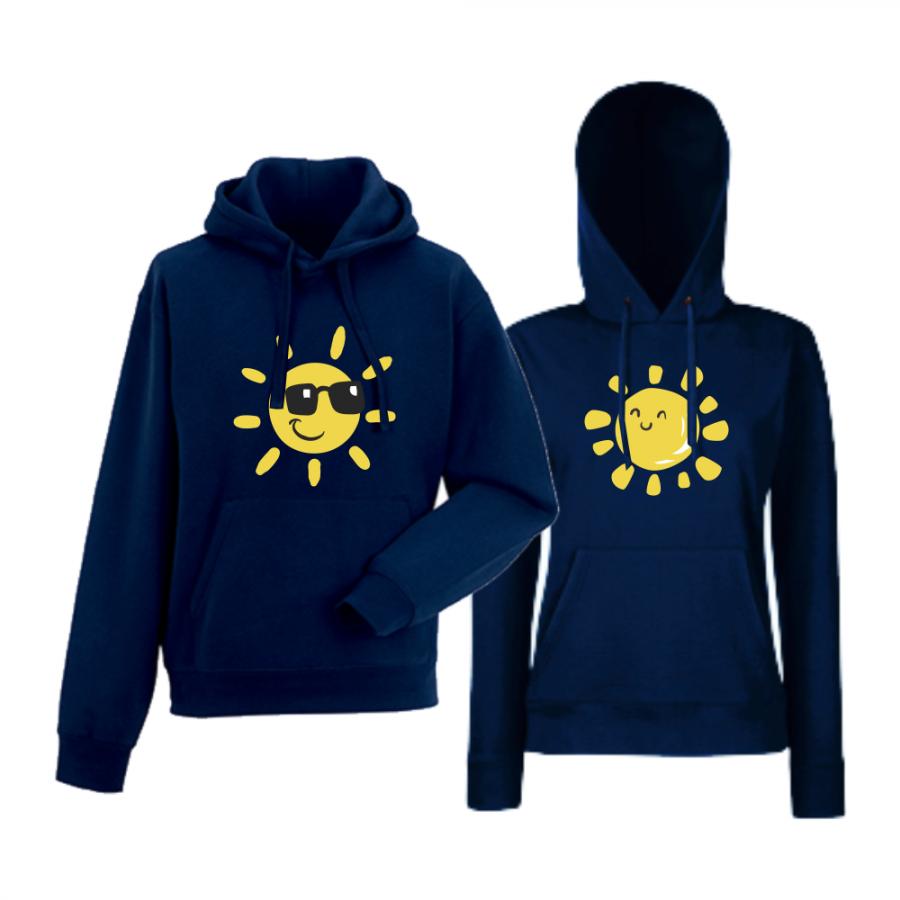 Σετ φούτερ - σκούρο μπλε χρώμα Sun, Smile and Sunglasses