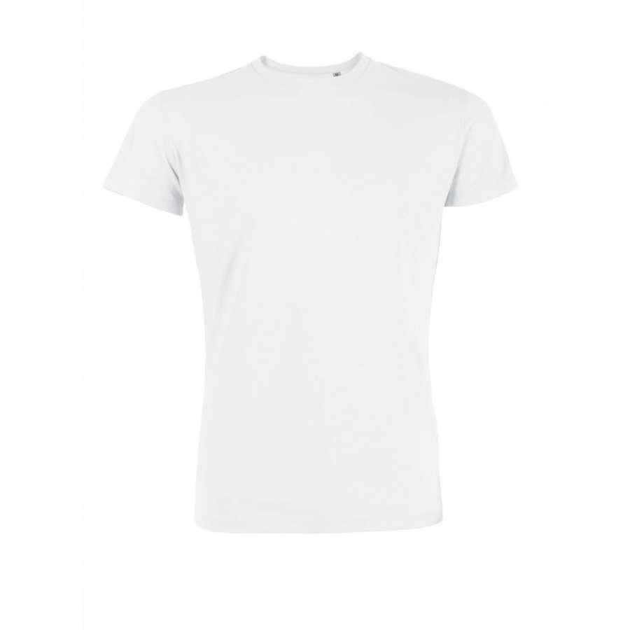 Ανδρική μπλούζα 100% οργανικό βαμβάκι - άσπρο χρώμα