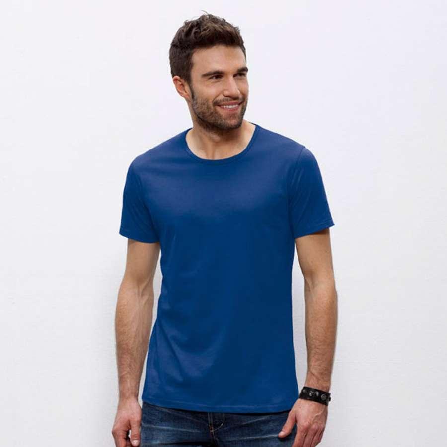 Ανδρική μπλούζα 100% οργανικό βαμβάκι - μπλε χρώμα