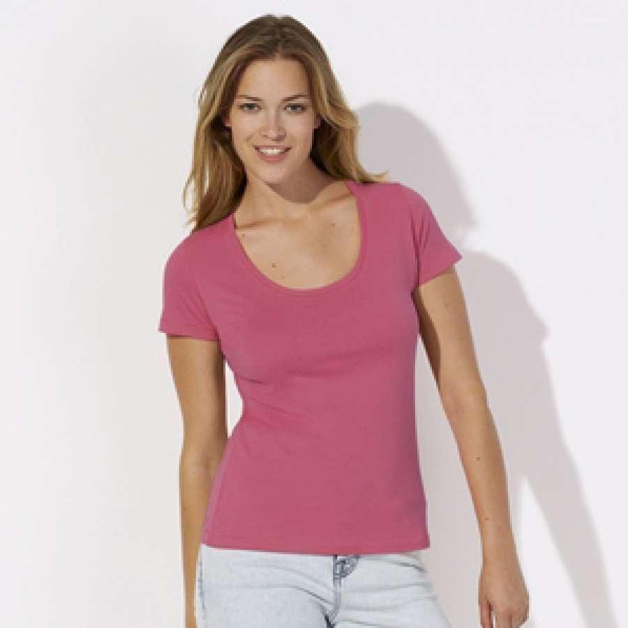 Γυναικεία μπλούζα 100% οργανικό βαμβάκι - κυκλάμινο