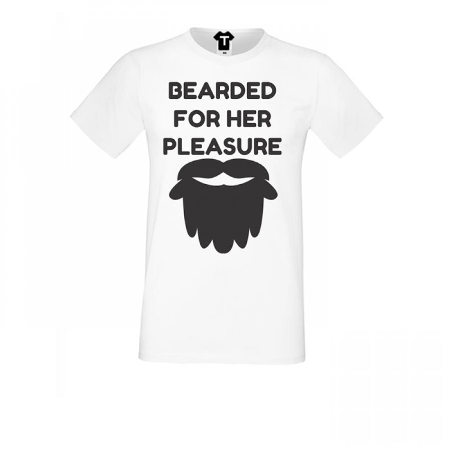 Ανδρική άσπη μπλούζα Bearded for her Pleasure