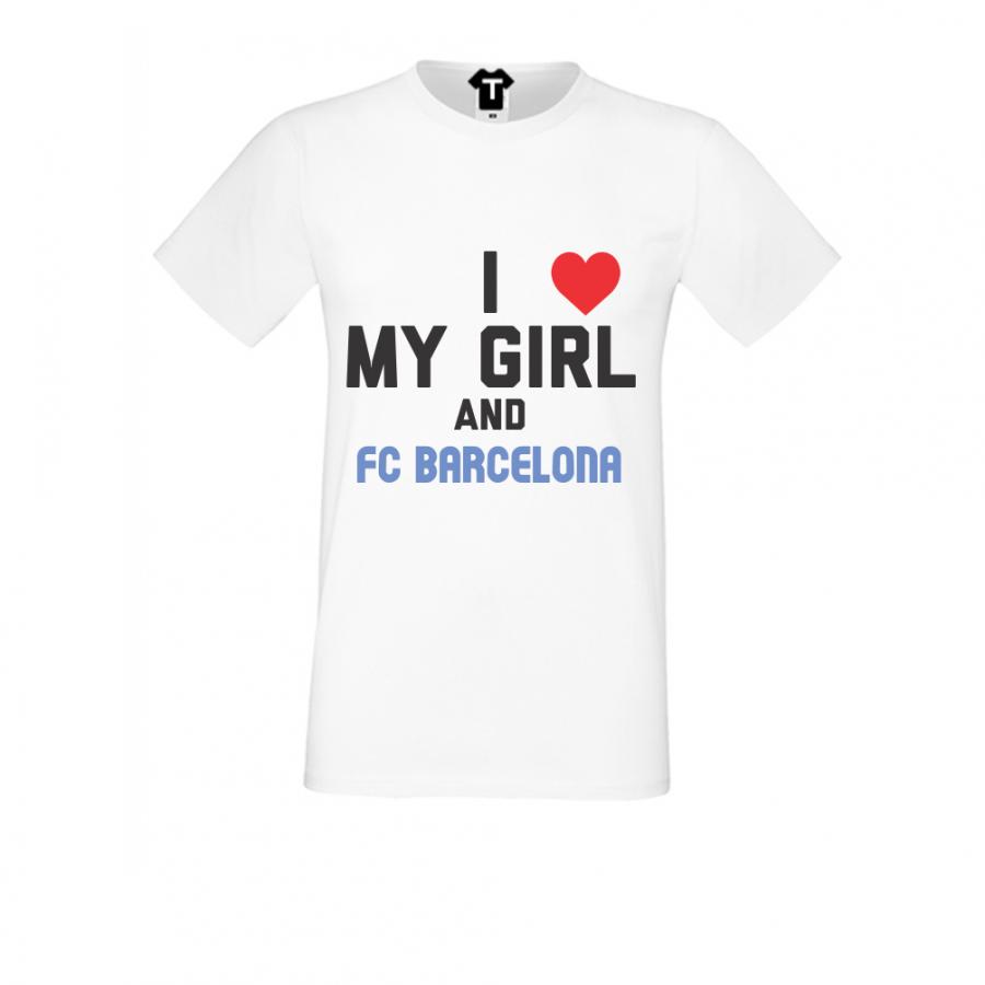 Ανδρική άσπη μπλούζα My Girl and Barcelona