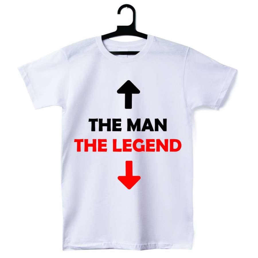 Ανδρική άσπη μπλούζα The man - The legend