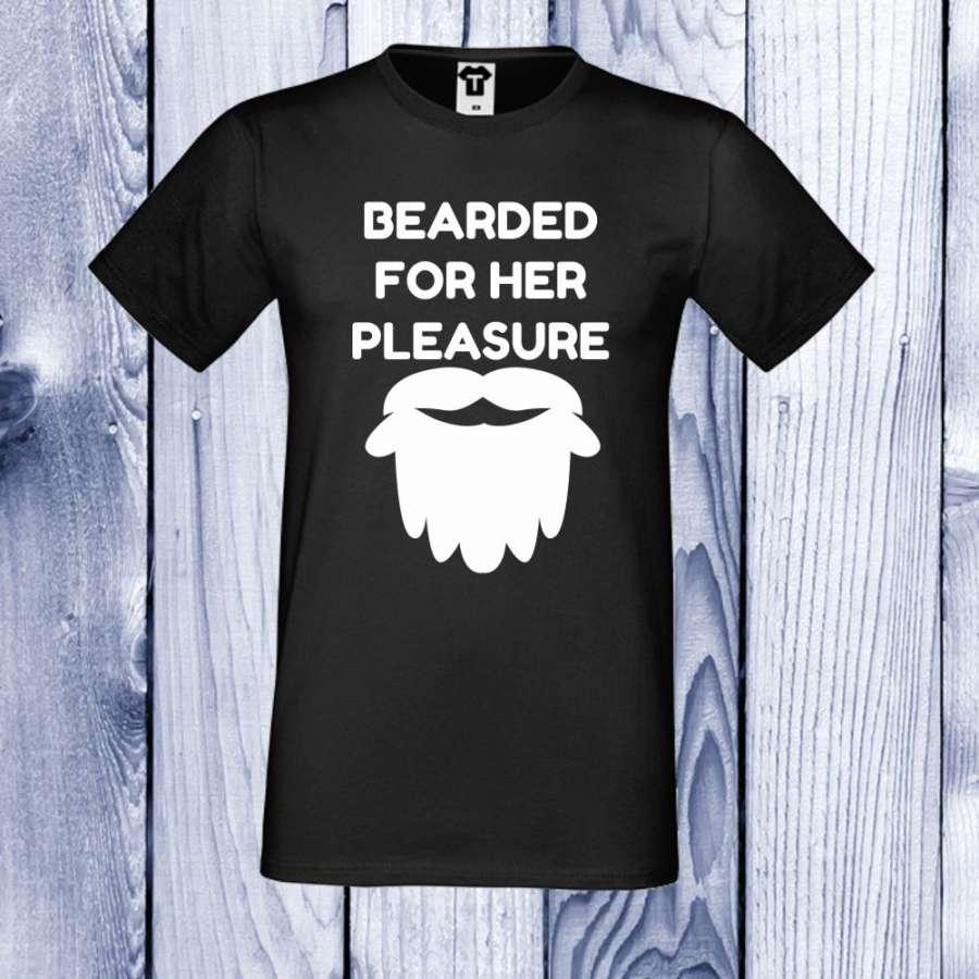 Ανδρική μαύρη μπλούζα Bearded for her Pleasure