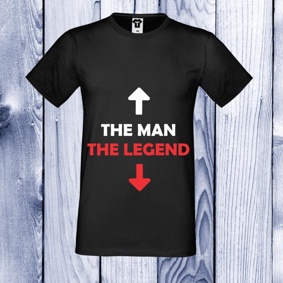 Ανδρική μαύρη μπλούζα The man - The legend
