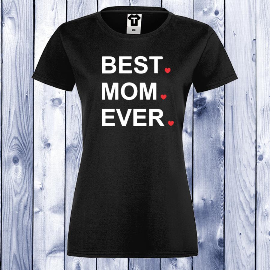 Γυναικεία μαύρη μπλούζα BEST MOM EVER.