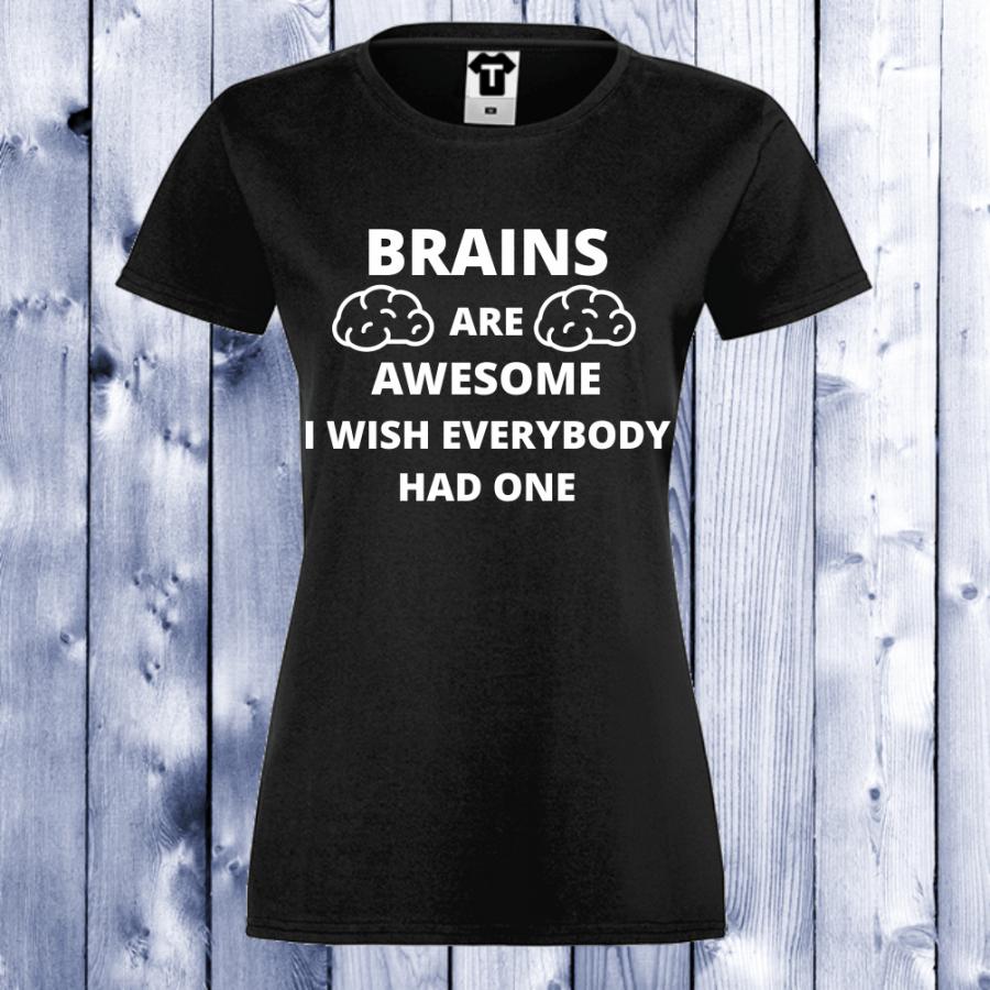 Γυναικεία μαύρη μπλούζα Brains