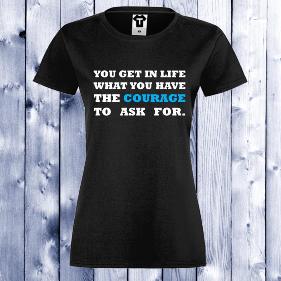 Γυναικεία μαύρη μπλούζα Courage