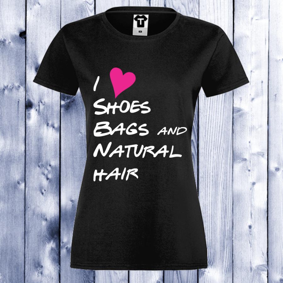 Γυναικεία μαύρη μπλούζα I Love shoes, bags…