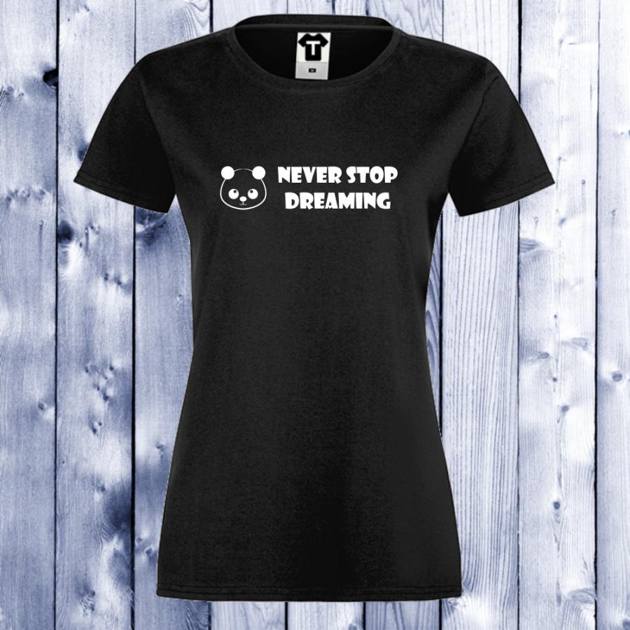 Γυναικεία μαύρη μπλούζα Never Stop Dreaming