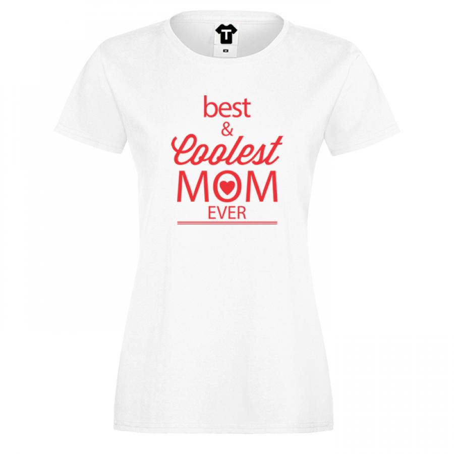 Γυναικεία μπλούζα Best and Coolest Mom 2