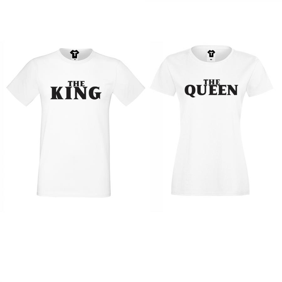 Σετ για ζευγάρια άσπρο χρώμα The Queen and The King