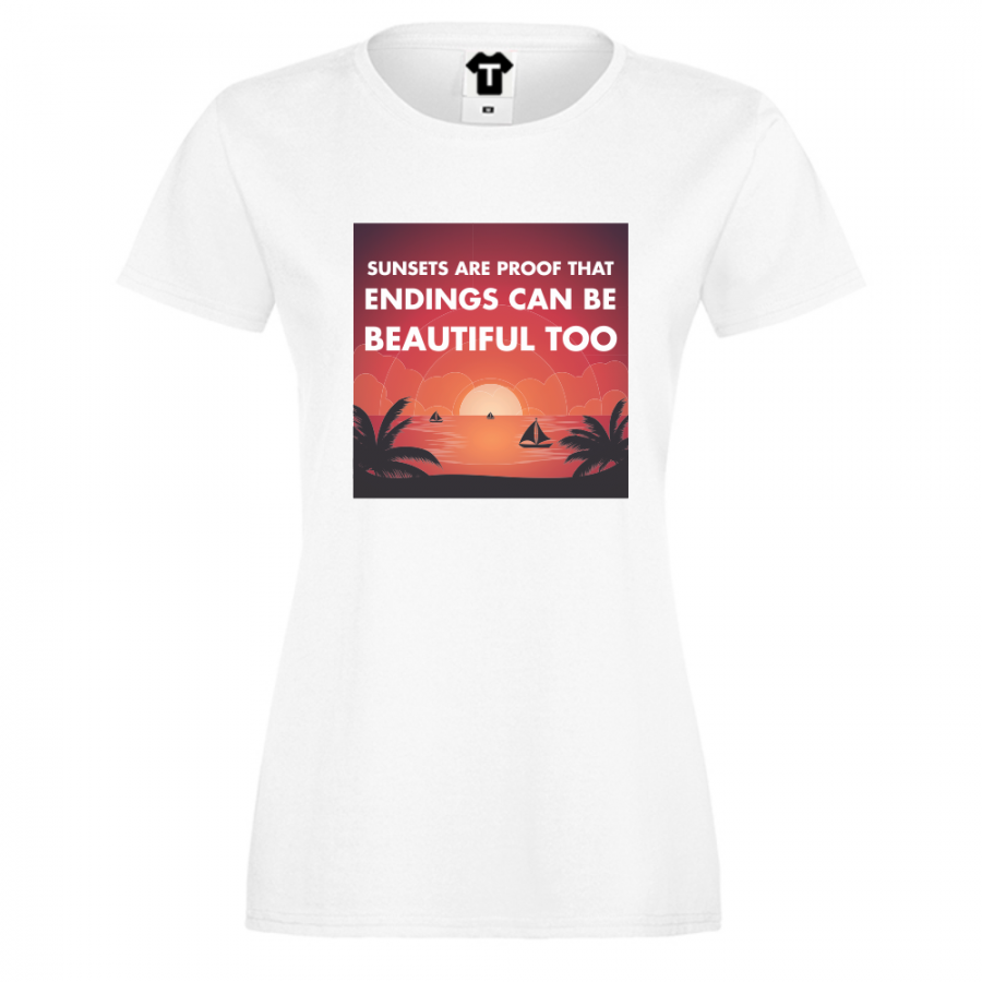Γυναικεία άσπρη μπλούζα Sunsets
