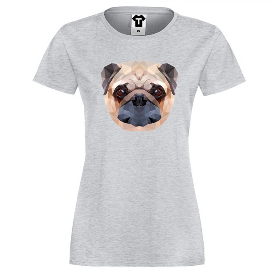 Γυναικεία μπλούζα Dog Polygonal