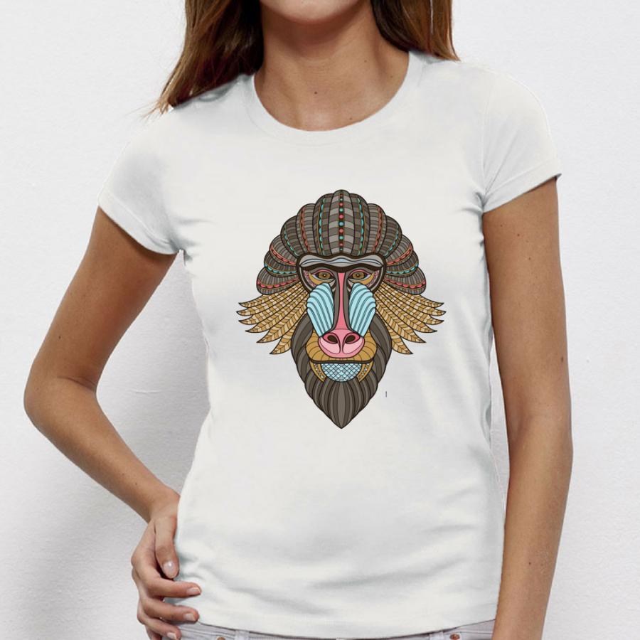 Γυναικεία μπλούζα Tribal baboon