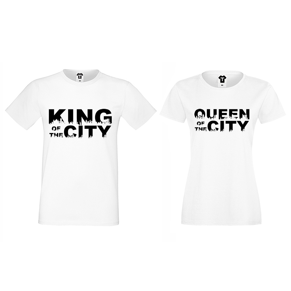 79ebccc34a78 ΜΠΛΟΥΖΕΣ ΓΙΑ ΖΕΥΓΑΡΙΑ King Queen of the city - D-CP-169