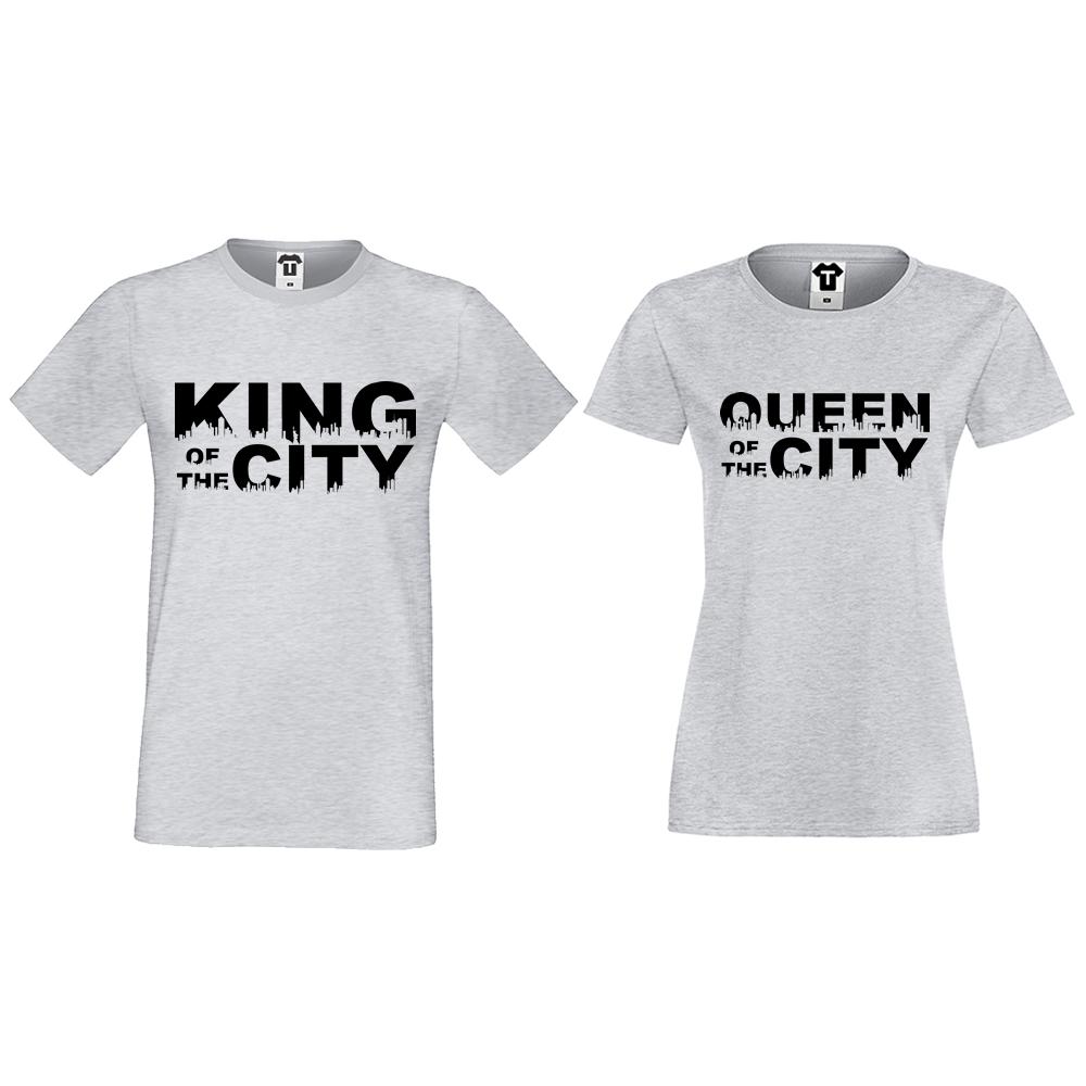 0eea5dff4384 ΜΠΛΟΥΖΕΣ ΓΙΑ ΖΕΥΓΑΡΙΑ King Queen of the city - D-CP-169G