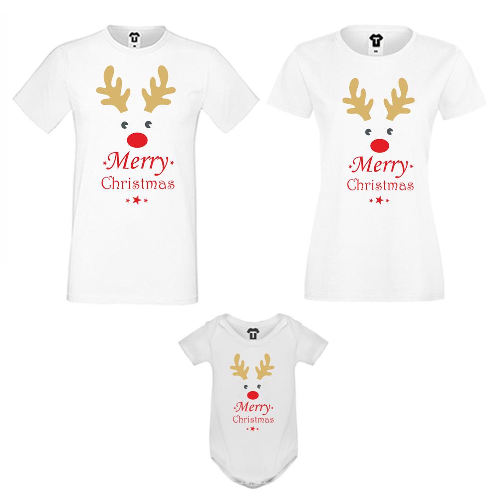 Οικογενειακό σετ μπλούζες  MERRY CHRISTMAS
