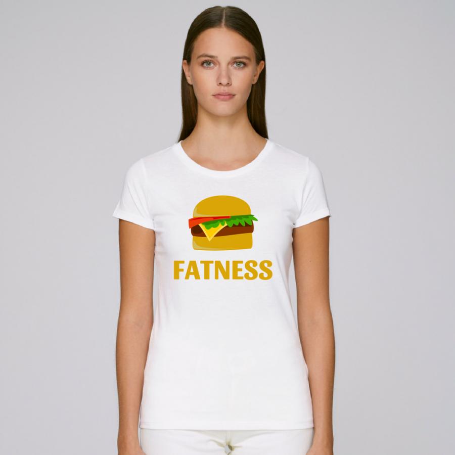 Γυναικεία άσπρη μπλούζα FATNESS